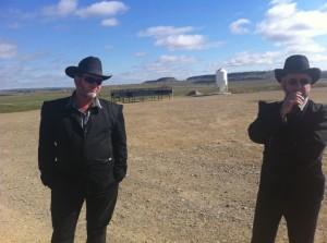 Montana Hutterite men at Golden Valley Colony